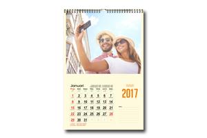 Kalendar Dinding Spiral Kawat Hanger